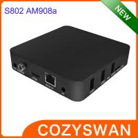 China Original Amlogic S802 Android Smart TV Box AM908A 4K XBMC Android 4.4 TV Boxes Black or White on sale