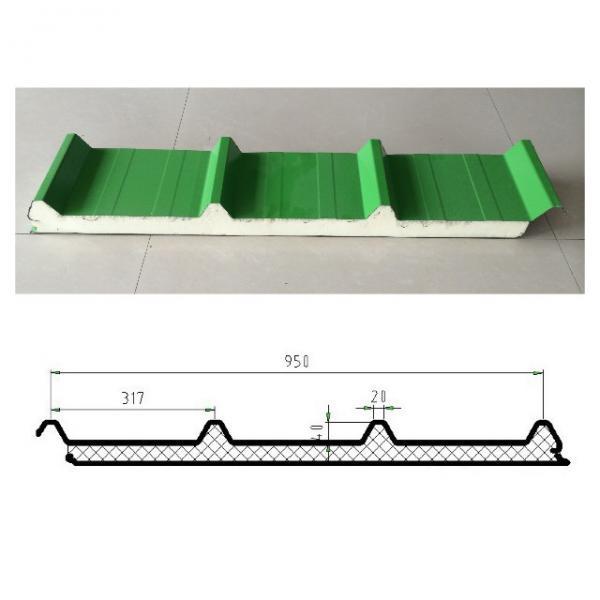 Quality Metal Roofing Sheet PPGI Steel PU Sandwich Panel Polyurethane Sandwich Panel for sale