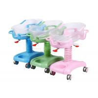 Plastic Bassinet Pediatric Hospital Bed , Hospital Baby Cart Weight Measuring Available