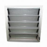 Aluminum Glass Shutter with Window, Used on Intake or Toilet Manufactures