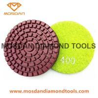 China 3 Inch Wet Resin Bond Polishing Pads for Concrete Floor Grinders on sale