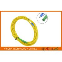 China HUBER + SUHNER E2000 to LC LAN Fiber Optic Patch Cable LSZH Plenum yellow on sale