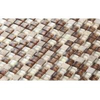Buy cheap New Best Selling Atpalas Sourttain Glass Mix Stone Mosaic Tile AGL7018 from wholesalers