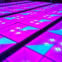 Portable Disco Light Dance Floor , LED DJ Stage Dance Floor With Ray Effect Manufactures
