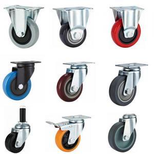 Rubber expander caster,rubber sleeve caster wheel,medium duty castor wheel,rigid castor,fixed caster Manufactures