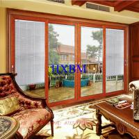 3.0mm Aluminum Profile Aluminum Sliding Patio Doors With 6mm Tempered Clear Glass Manufactures