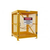 Yellow Gas Cylinder Storage Cages Used For Gas Tank And Cylinder Locker Manufactures