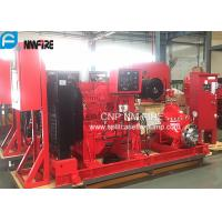 UL/FM  Listed Diesel Engine Drive Fire Pump With 1500usgpm @ 102m Horizontal Split case Pump Manufactures