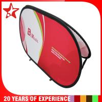 Oval Popup A Frame Banners Dye Sublimation Different Graphic Printing On Double Sides Manufactures