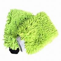 Microfiber Chenille Cleaning Mitt with 80% Polyester and 20% Polamide Manufactures