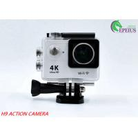 "170D Lens Waterproof Action Camera H9 WiFi 4K 2""LCD High Speed Sport Camcorder Manufactures"