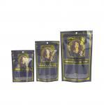 Plastic Gold Color Stand up Aluminum Foil Mylar Zipper Pouch Bag Manufactures