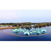 Oxford Inflatable Aqua Fun Park / Customized Inflatable Water Park Games For Lake Manufactures