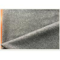 50% Wool Woven Gray Herringbone Fabric Anti Wind For Autumn Outfit / Jacket Manufactures