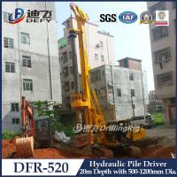 China 20m Hydraulic Pile Driver DFR-520 Mounted on Crawler on sale