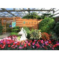 China Galvanized Frame Finishing Garden Glass Greenhouse 6mm Polycarbonate Covering on sale