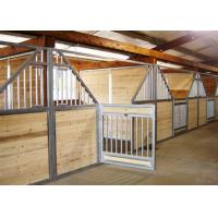 50mm Customized Horse Stable Equipment With Galvanized Steel Tube Stable Manufactures