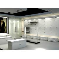 Matte White Color Men Retail Store Display Cases Professional 3 D Design Manufactures