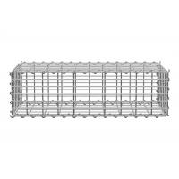 China Welded Gabion Cage Retaining Wall Lowes Gabion Stone Baskets Silver Color on sale