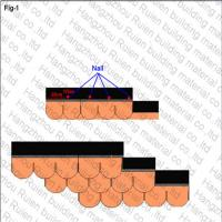 Copper Yellow Fish Scale Asphalt Shingles Lightweight 2.7cm - 3cm For Roof