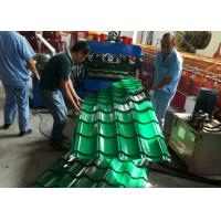 Automatic Glazed Tile Roll Forming Machine , Ceramic Tile Making Machine 380V 50HZ Manufactures