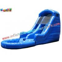 Commercial grade 0.55mm PVC tarpaulin Double Outdoor Inflatable Water Slides for Kids Manufactures