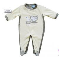 China Grey, White 100% Cotton Anti - Pilling Kids Cotton childrens Pajamas, Summer Suits Wear on sale