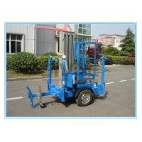 Vertical Aluminium Alloy Truck Mounted Man Lift , Single Mast Electric Boom Lift Manufactures