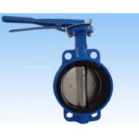 China Double Flanged Butterfly Valve , DN40 - DN600 Wafer And Lug Style Butterfly Valve on sale