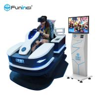 1 Player 9D Virtual Reality Simulator Rides High Speed Race Car 0.7KW With HTC Tracker Manufactures