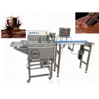 China 380V Chocolate Bar Production Line / Commercial Hot Chocolate Coating Machine on sale
