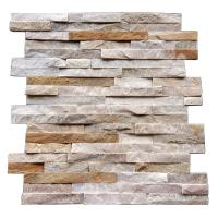 China Beige Natural Slate Culture Stone Veneer&Culture Stone Wall Panels Z Shape Size 60x150mm For Wall Decorations By Factory on sale