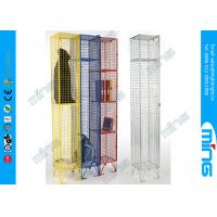 Single Heavy Duty Wire Display Stands Mesh Lockers For Drying Wet Clothing Manufactures