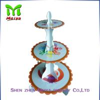 Single tiers Cardboard Cake Stands For Decration Christmas Party Manufactures