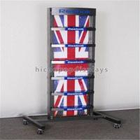 China Metal Retail Store Fixtures 4 Caster Functional Sports Gear Outdoor Shoe Display Rack on sale