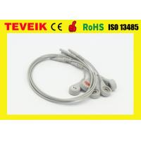 China Holter ECG cable with 7 lead wires of DIN 1.5  clip / IEC connector on sale