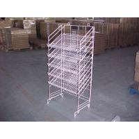 China Adjustable Height Metal Wire Display Racks For Supmarket Folding Feature on sale