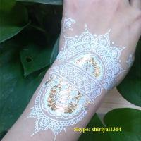 China 2015 newest white henna temporary tattoo sticker on sale