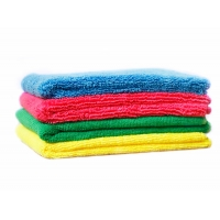 China Color Coded 30*30CM Microfiber Towels For Glass Cleaning on sale