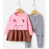 China Baby outdoor clothing girls spring long-sleeved children's clothes baby girls spring suits on sale