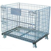 Foldable  Logistics  Wire Mesh Storage Containers With 1/2 Front Drop Gate Manufactures