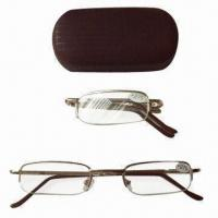 Quality metal folding reading glasses, customized colors are welcome for sale