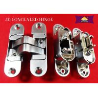 3D Adjustable Zinc Alloy Italian Hinges Invisible Door Hinges With Rass / Copper Finishing Manufactures