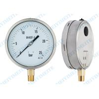 6 Inch hydraulic pressure gauge ss shrink bayonet ring brass connector Manufactures