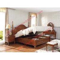 Ancient Rome style Solid Wood Bed with Storage in Bedroom Furniture sets Manufactures