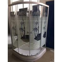 Palm Tree Shower Cabin With Tray , Bathroom Corner Shower Enclosures Pop - Up Waste Drain Manufactures