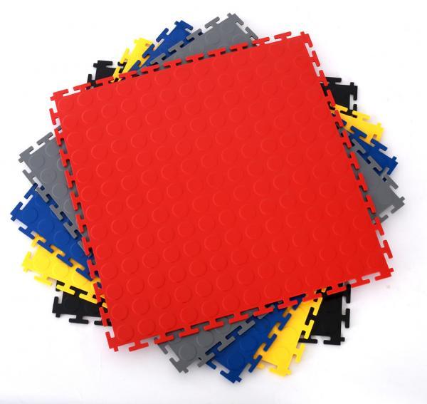Quality Heavy Duty Industrial Interlocking Workshop Factory Warehouse PVC Flooring Tiles for sale