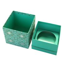 China Luxury Customized Handmade Gift Paper Box Packaging , Blue Foldable Paper Jewel Case    on sale