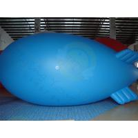 Quality Durable Advertising Helium Zeppelin , Blue Waterproof Inflatable Blimps for sale