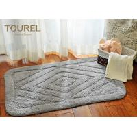 China 100% Solid Color Jacquard Hotel Bath Mats / Cotton Towel Bath Mat on sale
